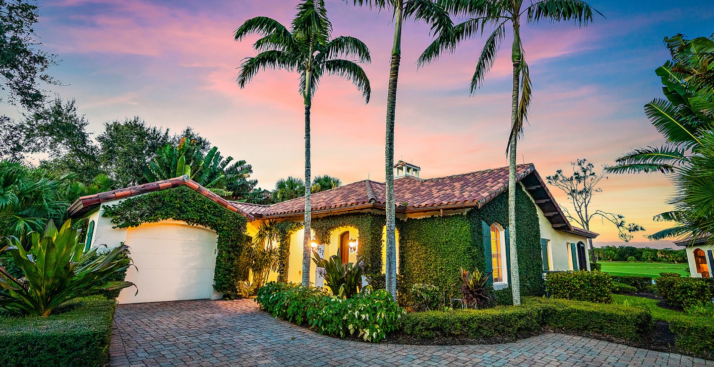 Exterior of a two-bedroom home for sale in Jupiter Florida